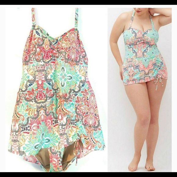 4816ddb2c5 Lane Bryant Other - Lane Bryant 22 Cacique Swim Dress -1 pc Swimsuit